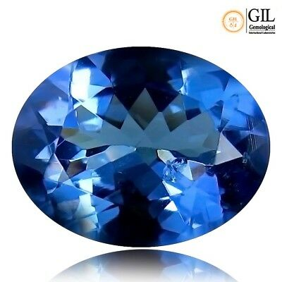 Natural earth mined Tanzanite GIL lab certified gemstone Oval cut 1.57ct