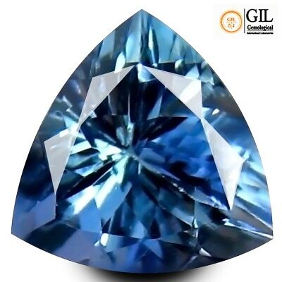 Natural earth mined trillion faceted Tanzanite gemstone 1.18ct GIL certified
