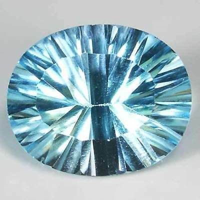 Sky blue Topaz Oval concave cut Natural gemstone from Brazil 5.4ct