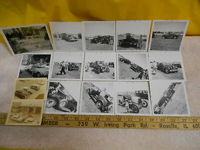 Original Vintage Lot Of Old Car Photos, Packards, Model T's, Racer, Ford, Others