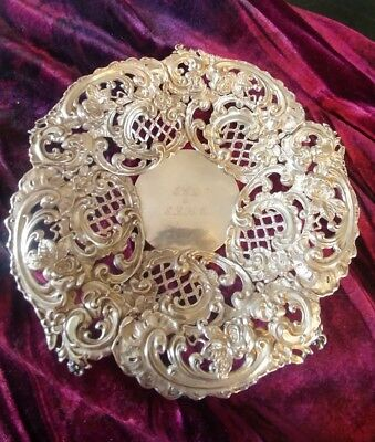 Sterling silver candy dish pierced probably Gorham Beautiful!