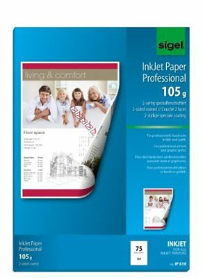 Sigel IP619 InkJet Paper, two-sided coated, bright white, for double-sided print