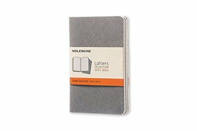 Moleskine Soft Grey Ruled Cahier Pocket Journal 3 Set