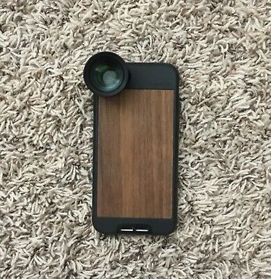 Moment Tele 60mm and Macro (25mm 10x) Lens with Lens Case + Iphone7 walnut case