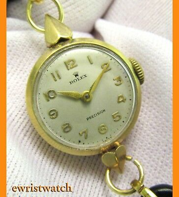 Beautiful 1950's 9ct Solid Gold Vintage Rolex Precision Ladies Cocktail Watch
