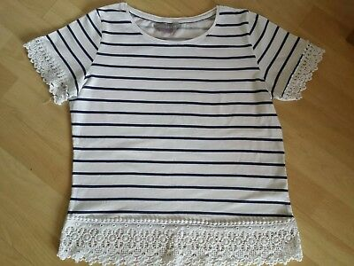 Navy and white ladies top size 10