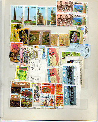 Collection of Zimbabwe stamps, 2 scans, nice lot.