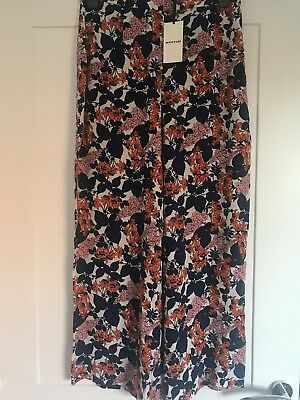 Whistles Wide Leg Floral Trousers With Matching Scarf. Size 12