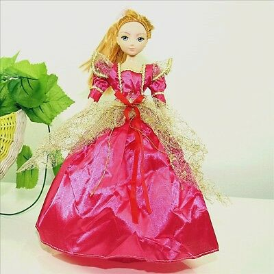 Handmade Party Dress Fashion Rose Clothes For Barbie Doll Outfit Gown Wedding