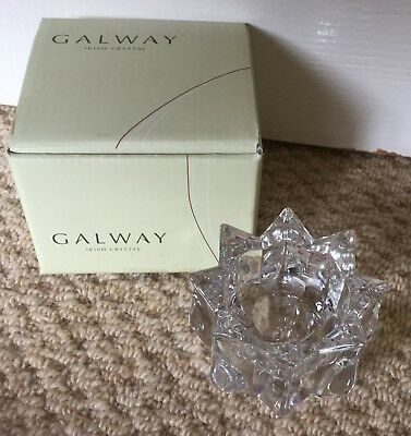 Galway Crystal Votive 5.5cm New In Box
