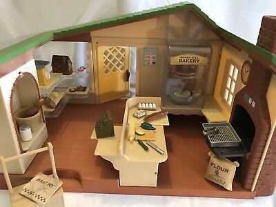 Sylvanian Families Watermill Bakery With Accessories