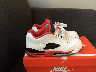 jordan 5 white and red size 5.5
