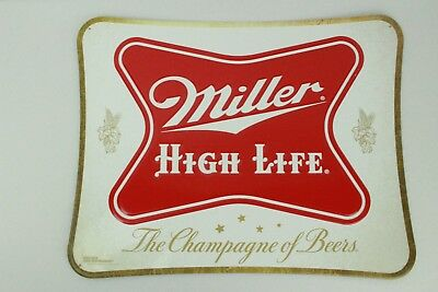 "Miller High Life MHL Official Branded Metal Embossed Bar Sign 19"" x 15"""
