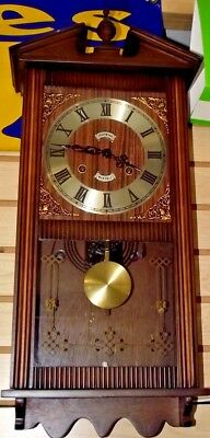 Large Wall Clock Made Of Wood 31 Day.  Hour and Half Hour Strike