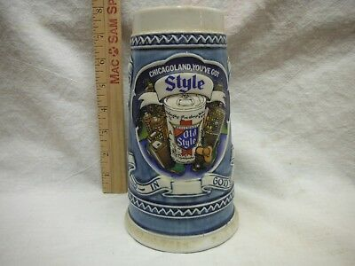 """Old Style """"chicagoland,you've Got Style"""" Beer Stein #2"""