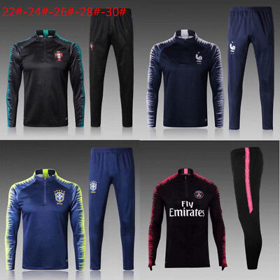 New Soccer Tracksuit Survetement Kids Boys Football Sportswear Training Suit