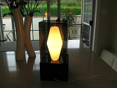 Vintage Designer Lucite Table Lamp 1960's Retro Mid Century Modern All Original