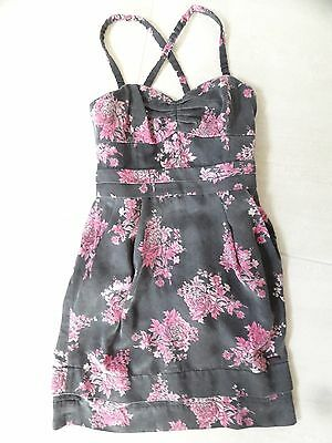 b5a53f919ac635 Wilfred Brand Aritzia Womens Gray And Pink Floral Sundress Size 2 Xs  165