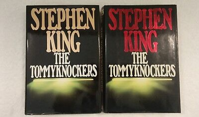 "Stephen King's Tommyknockers 1987 1st/1st Ed HCDJ ""Permissions"" Gold & Red Lot 2"