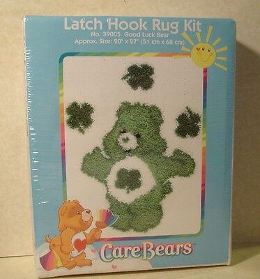 NEW 2004 LUCKY Good Luck CARE BEAR Latch Hook Rug Kit 27 x 20 Inches in size