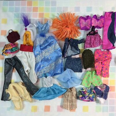 Vtg Lot Of Barbie Clothes Dresses 80s 90s Shirts Dresses Fashion Clothing Mattel