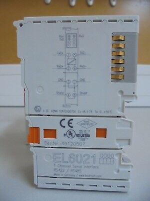 BECKHOFF EL6021 - 1 Channel Serial Interface RS 422/ RS485