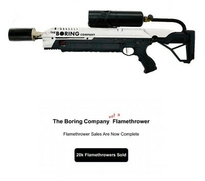 The Boring Company Not A Flamethrower Instruction Manual (Ahem Wink Wink)