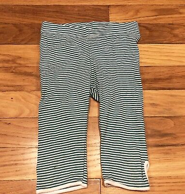 Tea Collection Bali girls teal stripe pedal pushers capri leggings size 3 EUC
