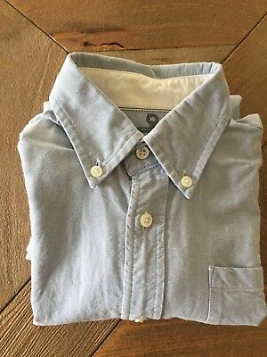 Crewcuts Boys Cotton Oxford Botton Down Shirt Pocket Uniform 6-7 Jcrew Lt Blue