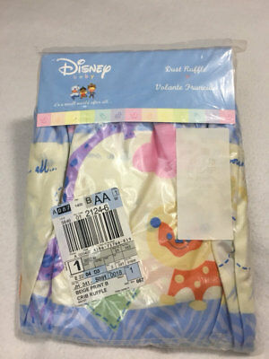 NEW Disney Baby It's A Small World After All Crib Dust Ruffle Pastel Animal