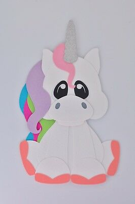 Unicorn fully assembled paper piecing / die cut