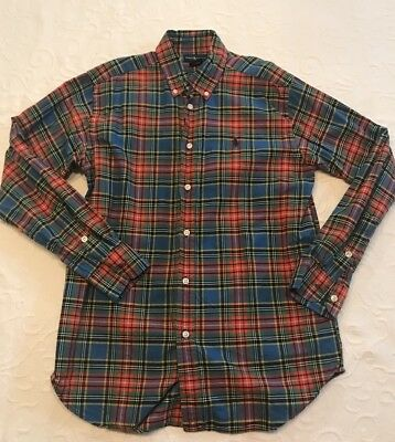 Ralph Lauren Polo Boys Plaid Button Down Boys Size L (14-16)