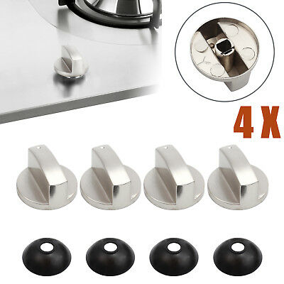 4X Alloy Home Kitchen Gas Stove Knobs Cooker Oven Cooktop Metal Switch Control