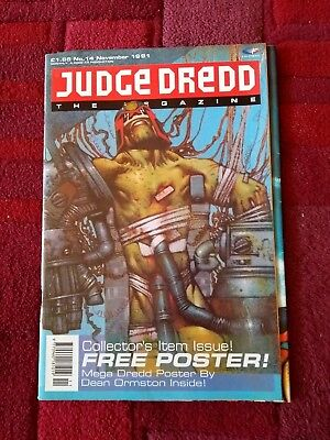 Judge Dredd the Megazine no. 14 1991 with free poster