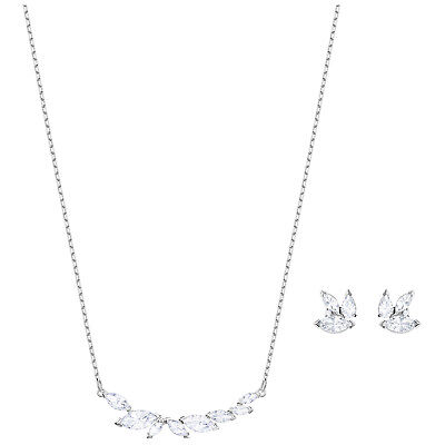 5675b2d95297 Swarovski Crystal Louison Leaf Necklace   Earrings Set
