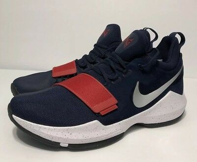 2f0cd2d2cc3d NIKE PG1 USA Paul George Men s RED WHITE BLUE 878627 900 Size 14 NO ...