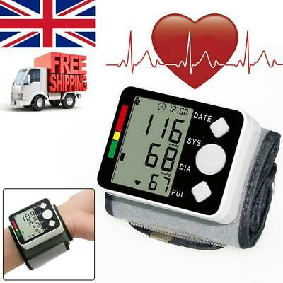 Digital Wrist Blood Pressure Monitor LCD Heart Beat Rate Pulse Measure Machine