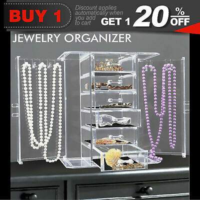 Cosmetic Makeup Organizer 6 Drawer Storage Holder Jewellery Box Clear Acrylic