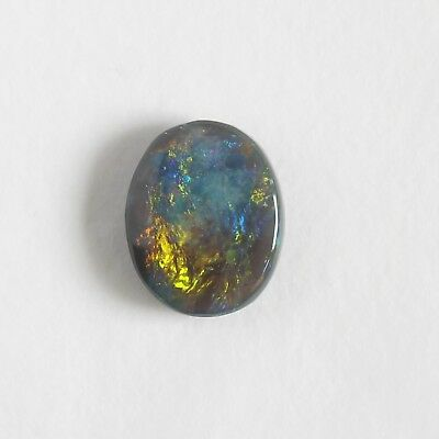 BLACK OPAL 1.10CT 8.7x7.0 LIGHTNING RIDGE AUSTRALIA NATURAL SOLID OVAL STONE