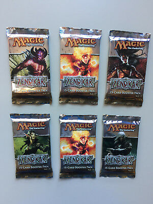 MTG 6 x ZENDIKAR BOOSTER PACKS Factory Sealed / English Magic The Gathering