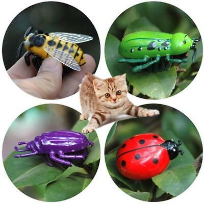 4type Pet Cat Toys Teaser Interactive Beetle Cicada Auto Electric Walking Insect