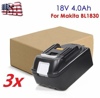 3 X Replacement Li-ion Battery 18V 4.0Ah For Makita  BL1815 BL1840 BL1830 new