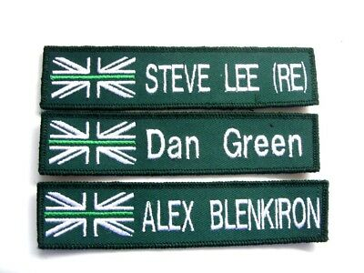 Thin Green Line Name Badge Patch White Uk Flag Trf Kit Bags Nhs Ambulance