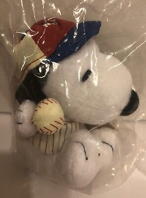 Metlife Snoopy Baseball player, plush stuffed toy animal, Charlie Brown Peanuts