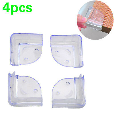 4Pcs Child Baby Safety Transparent Silicone Protector Table Corner Protection UK