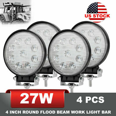 2x 7 inch 36W LED Work Light Bar Flush Mount Flood Driving Lamp Turn Signal Ford