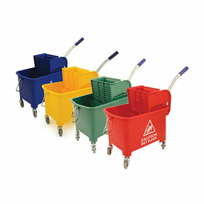 Professional 20L Kentucky Mop Bucket Wringer Cleaning Mopping Yellow Blue Green