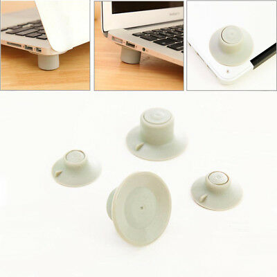4x Laptop Notebook Computer Cooling Feet Stand Holder Heat Reduction Gray Pad