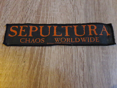 Sepultura Chaos Worldwide Patch/Aufnäher 1994 blue grape merchandising co., rare