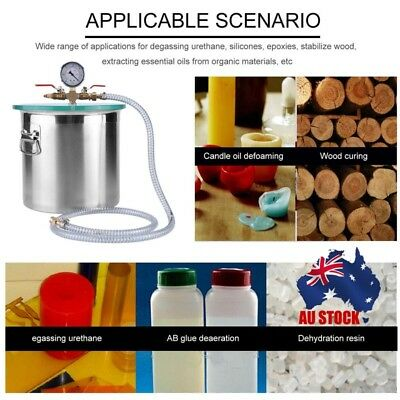 Low Noise 5 Gallon Stainless Steel Vacuum Chamber Container Kit High Efficiency